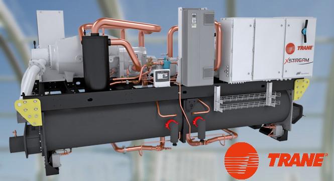 Điều hòa Chiller giải nhiệt nước Trane – XStream RTHF chiller 850-3670 kW